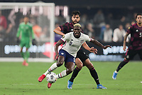 LAS VEGAS, NV - AUGUST 1: Gyasi Zardes #9 of the United States during a game between Mexico and USMNT at Allegiant Stadium on August 1, 2021 in Las Vegas, Nevada.