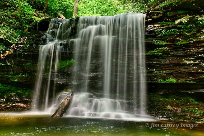Harrison Wright Falls in Ricketts Glen State Park in northeastern Pennsylvania.