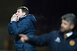 Motherwell v St Johnstone…06.02.18…  Fir Park…  SPFL<br />Tommy Wright shouts instructions <br />Picture by Graeme Hart. <br />Copyright Perthshire Picture Agency<br />Tel: 01738 623350  Mobile: 07990 594431