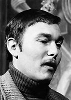 Entrevue pour le film francais <br /> L'attentat,<br /> le 31 Janvier 1973,<br /> réalisé par Yves Boisset en 1972 et mettant en vedette Jean-Louis Trintignant et Gian Maria Volonte<br />  <br /> PHOTO : Alain Renaud<br />  - Agence Quebec Presse