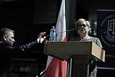 Please note: only for german clients!!WARSAW, POLAND, JULY 3, 2018: Young lawyers listen as <br /> head of Polish Supreme Court Malgorzata Gersdorf is giving a speach at the finishing ceremony at Law Faculty of Warsaw University. In the speach Gersdorf told students to remember about European values, constitution and rule of law in Poland.<br /> (Photo by Piotr Malecki / Napo Images)<br /> <br /> WARSZAWA 3/07/2018:<br /> Pierwsza prezes Sadu Najwyzszego Malgorzata Gersdorf - przemowienie do studentow na ceremonii wreczenia dyplomow. Fot: Piotr Malecki / Napo Images<br /> Fot