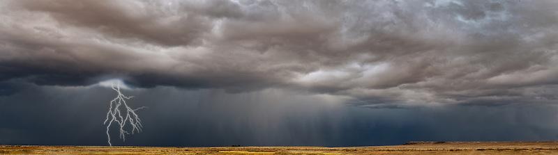 Storm clouds over Coal Mine Canyon, AZ