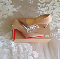 COPY BY TOM BEDFORD<br /> Pictured: A pair of Louboutin shoes owned by Emily Lock<br /> Re: Emily Lock, who studied law and criminology at university was jailed for 15 months along with her drug dealing boyfriend who was given a seven-year prison sentence<br /> 22 year old Lock, a former pupil at Fleur-de-Lys' Ysgol Gyfun Cwm Rhymni, had hoped one day that she would become a probation officer but a modern fascination with a Kim Kardashian type of lifestyle was hinted at as a motivation for her fall.<br /> But her dreams are in tatters after she was put behind bars at Merthyr Tydfil Crown Court after admitting acquiring criminal property.<br /> Lock, the court heard had posted pictures of herself living the highlife on Instagram and that over the space of a year in 2016, she had been on holiday to Amsterdam twice, Paris, Alicante, Miami and Dubai.