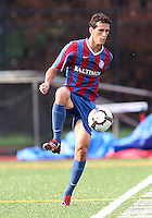 Zack Flores #23 of Crystal Palace Baltimore during an NASL match against the Montreal Impact at Paul Angelo Russo Stadium in Towson, Maryland on August 21 2010. Montreal won 5-0.