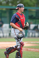 March 22nd 2008:  Tyler Flowers of the Atlanta Braves minor league system during a Spring Training camp day at Disney's Wide World of Sports in Orlando, FL.  Photo by:  Mike Janes/Four Seam Images