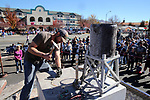 Jeff Cooper, of Carson City, competes in the 42nd Annual Nevada Day World Championship Single Jack Drilling Contest in the Max Casino parking lot in Carson City, Nev., on Saturday, October 28, 2017. <br /> Photo by Lance Iversen/Nevada Momentum