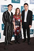 "Yosuke Kubozuka, Kelly MacDonald and Takehiro Hira<br /> arriving for the"" GIRI/HAJI"" screening at the Curzon Bloomsbury, London<br /> <br /> ©Ash Knotek  D3521 25/09/2019"
