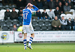 St Mirren v St Johnstone.....02.02.13      Scottish Cup.Steven MacLean holds his head after his bad miss.Picture by Graeme Hart..Copyright Perthshire Picture Agency.Tel: 01738 623350  Mobile: 07990 594431