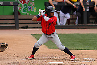 Cedar Rapids Kernels designated hitter Jeferson Morales (13) at bat during a game against the Wisconsin Timber Rattlers on September 8, 2021 at Neuroscience Group Field at Fox Cities Stadium in Grand Chute, Wisconsin.  (Brad Krause/Four Seam Images)