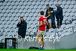 Ronan Buckley, Kerry receives a black card from referee during the Munster GAA Football Senior Championship Semi-Final match between Cork and Kerry at Páirc Uí Chaoimh in Cork.