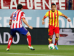 Atletico de Madrid's Diego Godin and FC Barcelona's Alexis Sanchez during Supercup of Spain 1st match.August 21,2013. (ALTERPHOTOS/Victor Blanco)