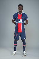 14th October 2020, Paris, France; Official League 1 player portrait for Paris Saint Germain;  GUEYE Idrissa