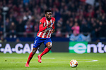 Thomas Teye Partey of Atletico de Madrid in action during the UEFA Europa League 2017-18 Round of 16 (1st leg) match between Atletico de Madrid and FC Lokomotiv Moscow at Wanda Metropolitano  on March 08 2018 in Madrid, Spain. Photo by Diego Souto / Power Sport Images