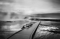 """Behind The Mist""  Yellowstone National Park  Grand Prismatic Spring 