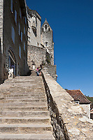Europe/Europe/France/Midi-Pyrénées/46/Lot/Rocamadour: Le grand Escalier - Via Sancta - Voie sainte