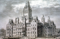 Capitol, Albany, New York. (This must be Thomas Fuller's winning entry....Harper's Weekly, Oct. 9, 1869)