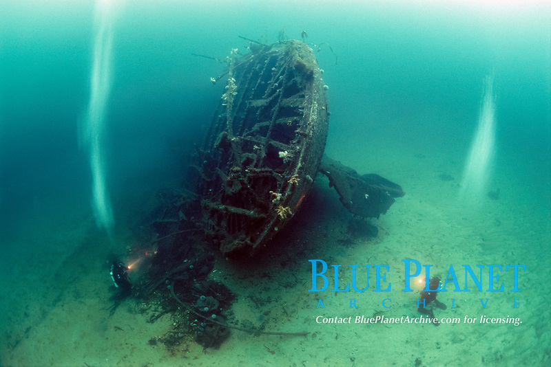 Wreck of coastal liner D/S Havda, sunk by Australian, British and Canadian Beaufighter aircraft of 455, 144 and 404 squadrons based in Scottland on the 9th of December 1944, Lutelandet, Askvoll, Sogn og Fjordane, Norway, North Atlantic Ocean
