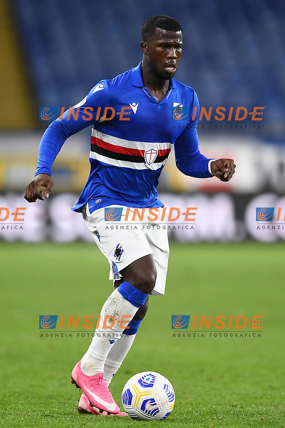 Keita Balde of UC Sampdoria in action during the Serie A football match between UC Sampdoria and SS Lazio at stadio Marassi in Genova (Italy), October 17th, 2020. <br /> Photo Image Sport / Insidefoto
