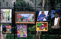 Art paintings, French Quarter, city of New Orleans, Louisiana, NOLA, USA