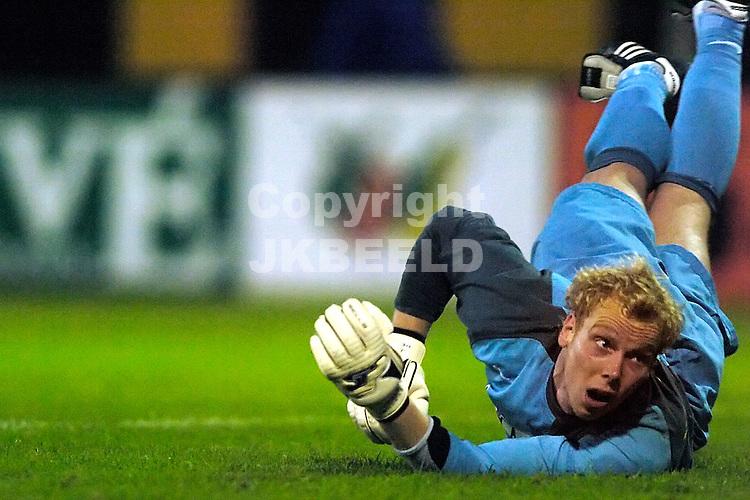 veendam - fc eindhoven jupiler league seizoen 2007-2008 07-09-2007  doelman hendriks is kansloos bij de 1-1