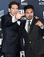 WASHINGTON, DC, USA - OCTOBER 15: Jon Bernthal, Michael Pena arrives at the Washington DC Premiere Of Sony Pictures' 'Fury' held at The Newseum on October 15, 2014 in Washington, DC, United States. (Photo by Jeffery Duran/Celebrity Monitor)
