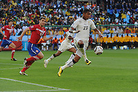 Ghana forward Kevin Prince Boateng helps clear the ball out of the defensive third against Serbia. Ghana defeated Serbia, 1-0, June 13th, in the opening match of Group D of the 2010 FIFA World Cup.