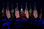 Bill Clinton addresses the crowd during a visit to Cobo Center, Saturday, April 26, 2014 in Detroit, Mich.  (AP Photo/Jose Juarez)