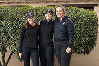 STANFORD, CA - APRIL 25: Aline Krauter, Rachel Heck, Rebecca Becht at Stanford Golf Course on April 25, 2021 in Stanford, California.