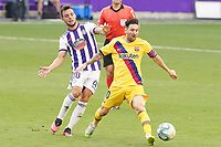 Real Valladolid's Oscar Plano (l) and FC Barcelona's Leo Messi during La Liga match. July 11,2020. (ALTERPHOTOS/Acero)<br /> 11/07/2020<br /> Liga Spagna 2019/2020 <br /> Valladolid - Barcelona <br /> Foto Alterphotos / Insidefoto <br /> ITALY ONLY
