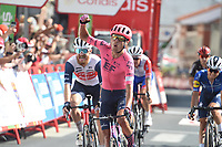 3rd September 2021; Tapia to Monforde de Lemos, Asturias, Spain; stage 19 of Vuelta a Espanya cycling tour;  Ef Education - Nippo Nielsen Magnus, Cort crosses the finish line in Monforte De Lemos