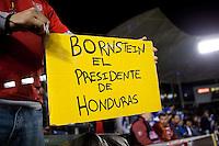 Fan holds sign in support of Jonathan Bornstein. USA vs Honduras, Saturday Jan. 23, 2010 at the Home Depot Center in Carson, California. Honduras 3, USA 1.