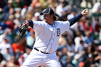 March 5, 2010:  Pitcher Phil Coke of the Detroit Tigers during a Spring Training game at Joker Marchant Stadium in Lakeland, FL.  Photo By Mike Janes/Four Seam Images