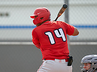 Doral Academy Firebirds Marcus Franco (14) during the IMG National Classic on March 29, 2021 at IMG Academy in Bradenton, Florida.  (Mike Janes/Four Seam Images)