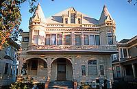 Los Angeles: S. Bonnie Brae.  Victorian historic district. Photo '87.