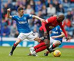 05.05.2018 Rangers v Kilmarnock: jason Holt and Youssouf Mulumbu
