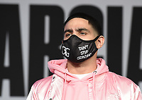 DALLAS, TX - DECEMBER 2: Danny Garcia appears at a press conference for his December 5, 2020 Fox Sports PBC Pay-Per-View title fight against Errol Spence Jr. at AT&T Stadium in Arlington, Texas. (Photo by Frank Micelotta/Fox Sports)