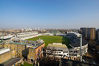 BNPS.co.uk (01202 558833)<br /> Picture: Savills/BNPS<br /> <br /> Pictured: The view of Lord's Cricket Ground.<br /> <br /> HOWZAT for a view?<br /> <br /> A luxury flat that has grandstand views of Lords cricket ground has gone on the market for £2.72m.<br /> <br /> The two-bed apartment is on the 11th floor of a building next to the 'home of cricket'.<br /> <br /> From the balcony, there are uninterrupted views of the cricket pitch.