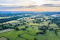 France, Allier, Bourbonnais, Troncais forest, Isle et Bardais, landscape of bocages (aerial view) // France, Allier (03), Bourbonnais, forêt de Tronçais, Isle-et-Bardais, paysage de bocages (vue aérienne)