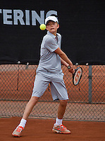 07-08-13, Netherlands, Rotterdam,  TV Victoria, Tennis, NJK 2013, National Junior Tennis Championships 2013, Christian Lerby<br /> <br /> <br /> Photo: Henk Koster