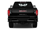 Straight rear view of 2020 GMC Sierra-2500-HD Denali 4 Door Pick-up Rear View  stock images