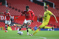 Anthony Elanga of Manchester United in action during Manchester United vs Brentford, Friendly Match Football at Old Trafford on 28th July 2021