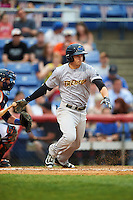 Trenton Thunder shortstop Tyler Wade (14) during a game against the Binghamton Mets on May 29, 2016 at NYSEG Stadium in Binghamton, New York.  Trenton defeated Binghamton 2-0.  (Mike Janes/Four Seam Images)