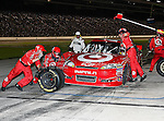 Juan Montoya, driver of the (42) Target Chevrolet, makes a pit stop during the Samsung Mobile 500 Sprint Cup race at Texas Motor Speedway in Fort Worth,Texas.
