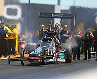 Jul 30, 2016; Sonoma, CA, USA; NHRA top fuel driver Scott Palmer during qualifying for the Sonoma Nationals at Sonoma Raceway. Mandatory Credit: Mark J. Rebilas-USA TODAY Sports