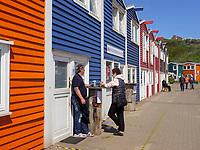 Hummerbuden am Hafen, Insel Helgoland, Schleswig-Holstein, Deutschland, Europa<br /> Hummer-shacks , Helgoland island, district Pinneberg, Schleswig-Holstein, Germany, Europe