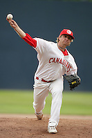 July 11 2009: Nathan Long of the Vancouver Canadians during game against the Boise Hawks at Nat Bailey Stadium in Vancouver,BC..Photo by Larry Goren/Four Seam Images