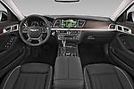 Stock photo of straight dashboard view of a 2015 Hyundai Genesis 3.8 4 Door Sedan Dashboard