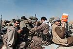 30/09/14  Iraq -- Daquq, Iraq -- Volunteer fighters at the front line in Wahda village, Daquq.