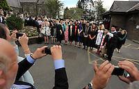 University Wales Trinity Saint David graduate ceremony at Carmarthen, Wales, UK Tuesday 05 July 2016