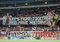 07 March 2012: The Toronto FC fans show their support during a CONCACAF Champions League game between the LA Galaxy and Toronto FC at the Rogers Centre in Toronto..The game ended in a 2-2 draw.